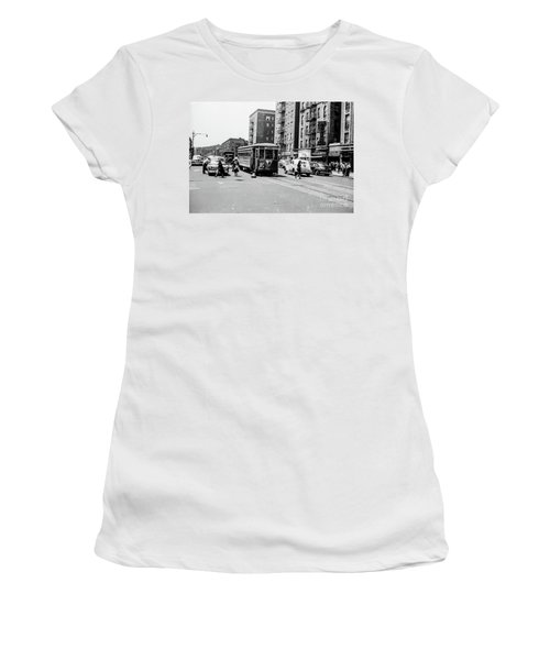 Women's T-Shirt (Athletic Fit) featuring the photograph Inwood Trolley  by Cole Thompson