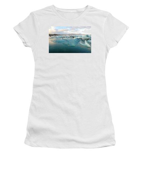 Jokulsarlon The Glacier Lagoon, Iceland 2 Women's T-Shirt (Junior Cut) by Dubi Roman