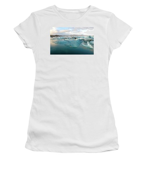 Jokulsarlon The Glacier Lagoon, Iceland 2 Women's T-Shirt (Athletic Fit)