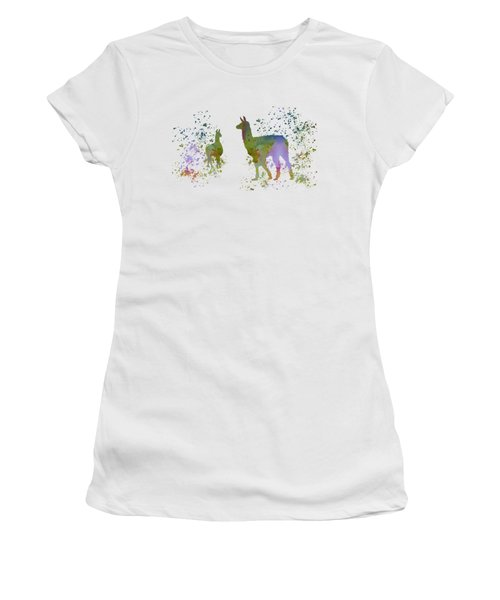 Llamas Women's T-Shirt (Athletic Fit)