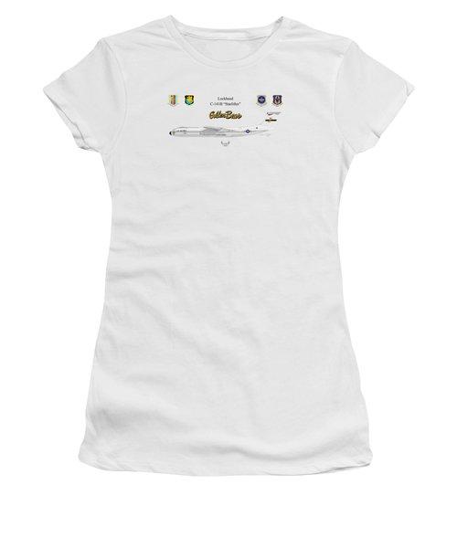 Women's T-Shirt (Junior Cut) featuring the digital art Lockheed C-141b by Arthur Eggers