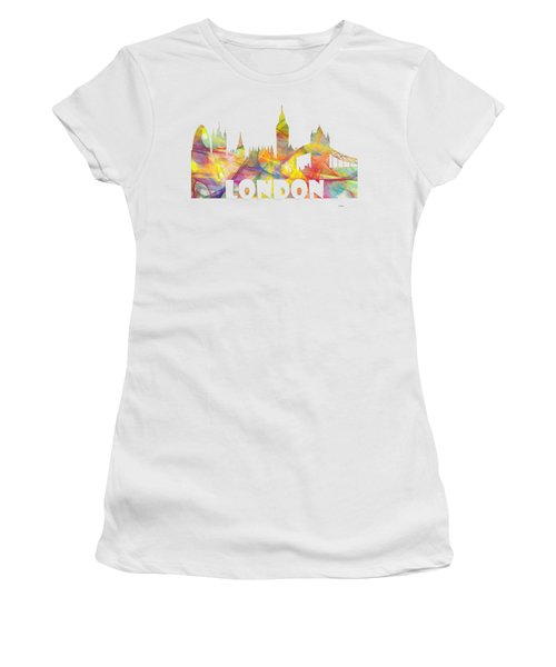 London England Skyline Women's T-Shirt (Athletic Fit)