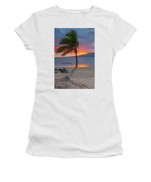Lonely Palm Women's T-Shirt (Junior Cut) by James Roemmling