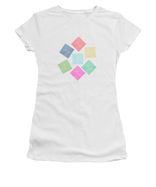 Lovely Geometric Background Women's T-Shirt (Athletic Fit)
