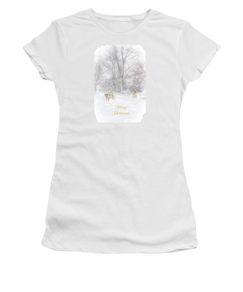 Merry Christmas Women's T-Shirt (Junior Cut) by Mary Timman