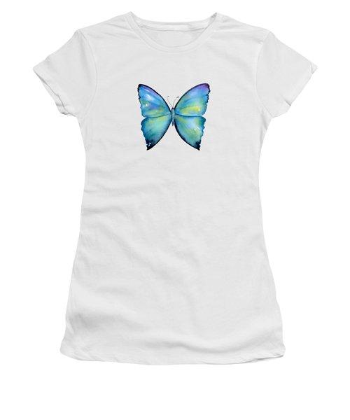 2 Morpho Aega Butterfly Women's T-Shirt