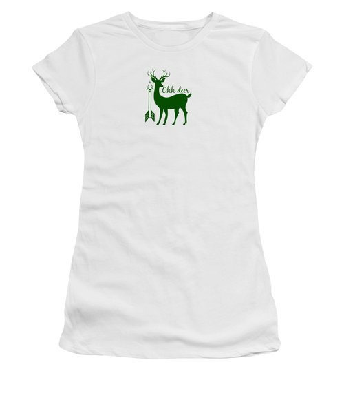 Ohh Deer Women's T-Shirt (Junior Cut) by Chastity Hoff