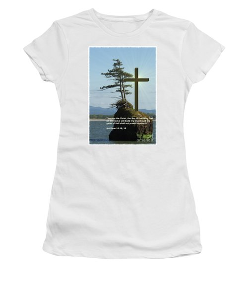 On This Rock I Will Build My Church Women's T-Shirt
