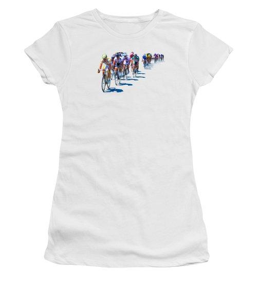 Women's T-Shirt (Junior Cut) featuring the photograph Philadelphia Bike Race by Bill Cannon