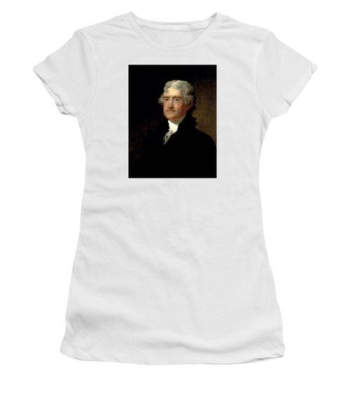President Thomas Jefferson  Women's T-Shirt (Athletic Fit)