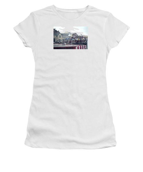 Nor' Easter At Portsmouth Women's T-Shirt (Junior Cut) by Richard Ortolano
