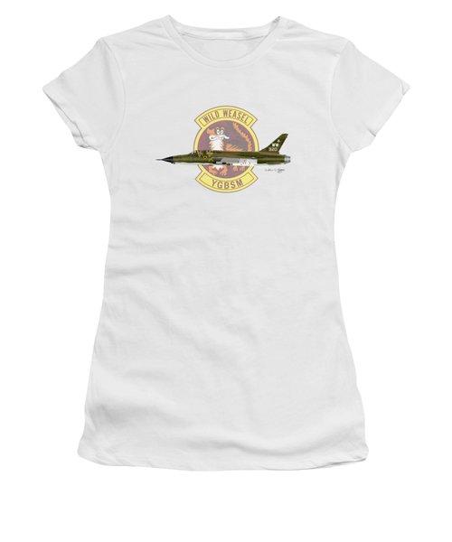 Women's T-Shirt (Junior Cut) featuring the digital art Republic F-105g Thunderchief 561tfs by Arthur Eggers