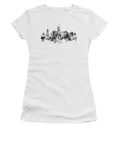 Rutherglen Scotland Skyline Women's T-Shirt (Junior Cut) by Marlene Watson