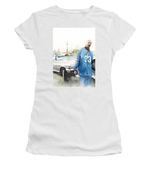 Snoop Detail Women's T-Shirt (Junior Cut) by Jani Heinonen