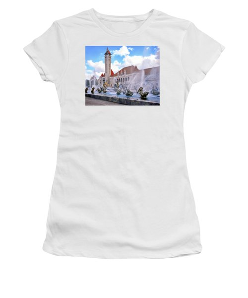 Union Station - St Louis Women's T-Shirt (Junior Cut) by Harold Rau