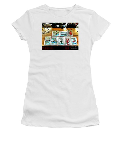 Vintage Map Art Women's T-Shirt (Junior Cut) by Scott D Van Osdol