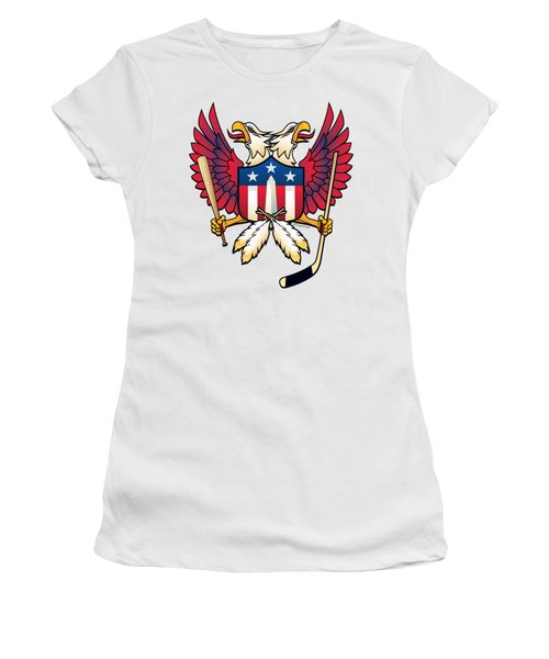 Washington Dc Double Eagle Sports Fan Crest Women's T-Shirt (Athletic Fit)