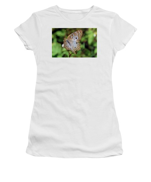 White Peacock Butterfly Women's T-Shirt