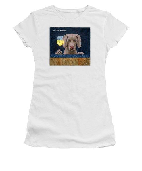 Wine-maraner Women's T-Shirt (Athletic Fit)