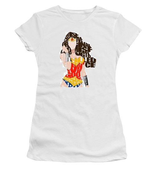 Wonder Woman Inspirational Power And Strength Through Words Women's T-Shirt