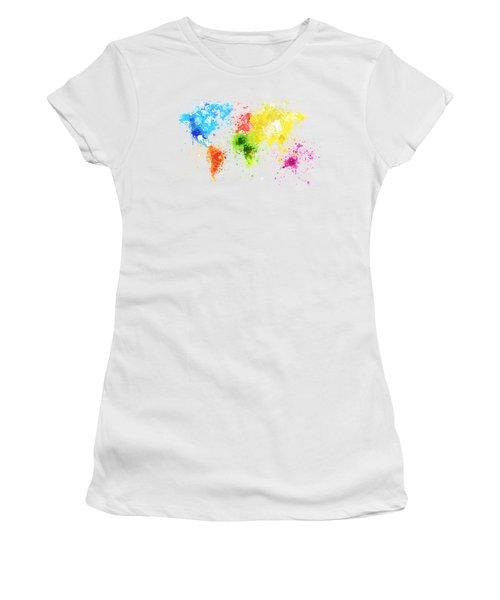World Map Painting Women's T-Shirt