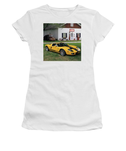 Women's T-Shirt (Junior Cut) featuring the photograph 2005 Ford Gt by Christopher McKenzie