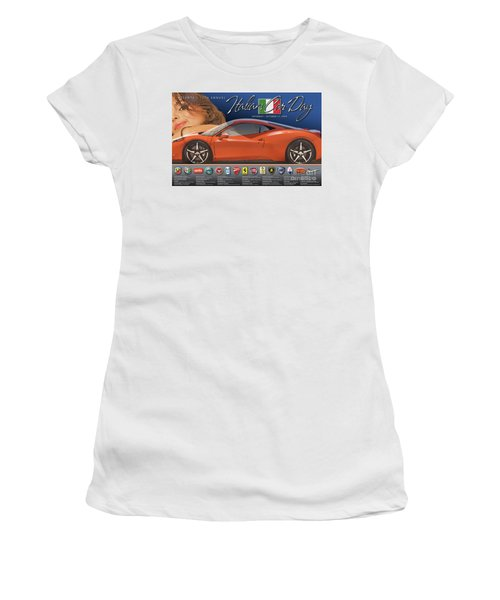 2009 Atlanta Italian Car Day Poster Women's T-Shirt