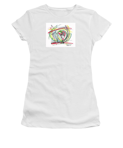 2010 Abstract Drawing Eighteen Women's T-Shirt (Athletic Fit)