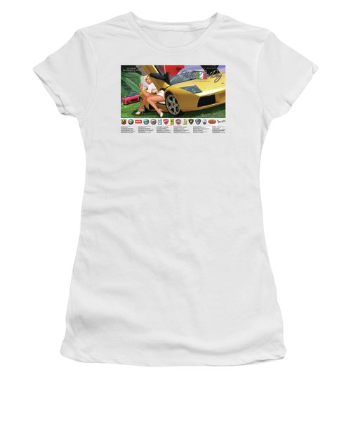 2014 Atlanta Italian Car Day Poster Women's T-Shirt