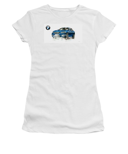 2014 B M W 2 Series Coupe With 3d Badge Women's T-Shirt (Athletic Fit)