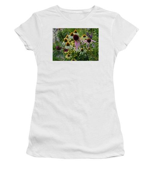 2015 Summer At The Garden Coneflowers Women's T-Shirt