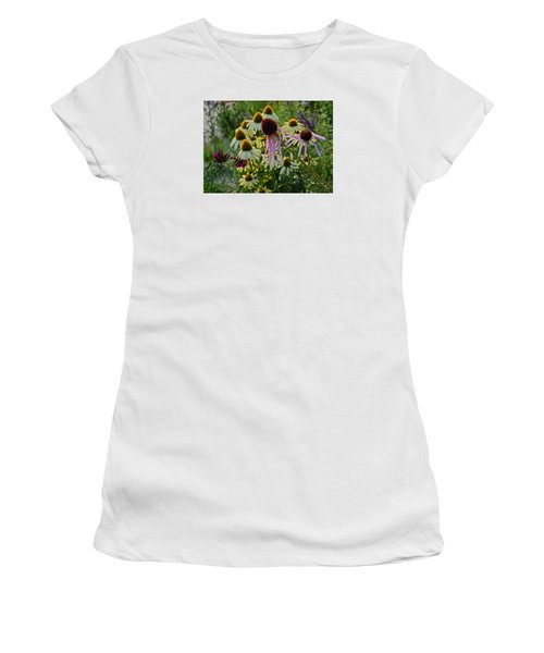 2015 Summer At The Garden Coneflowers Women's T-Shirt