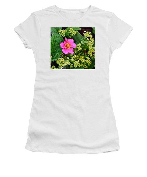 2015 Summer's Eve At The Garden Lipstick Strawberry Women's T-Shirt