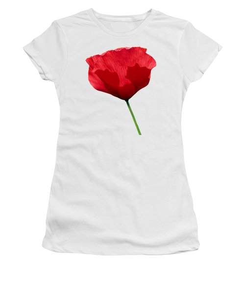 Poppy Flower Women's T-Shirt (Athletic Fit)