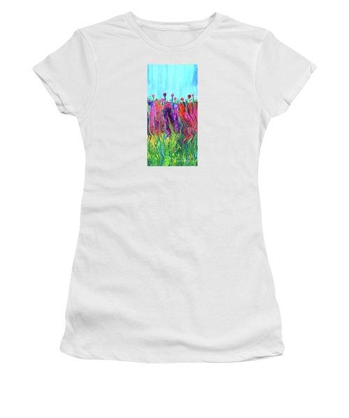 #2555  Happylittle Garden Women's T-Shirt (Athletic Fit)