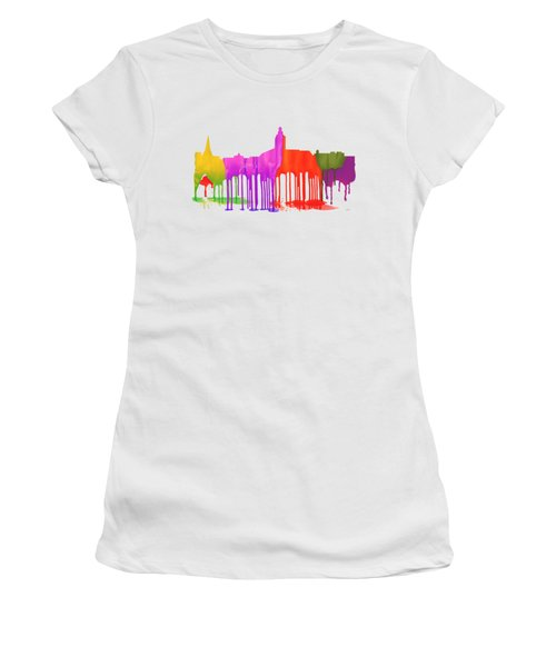 Annapolis Maryland Skyline      Women's T-Shirt (Junior Cut) by Marlene Watson