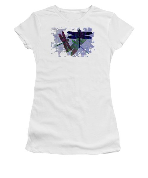 3 Dragonfly Women's T-Shirt (Junior Cut) by Jack Zulli