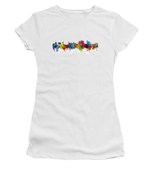 Fayetteville Arkansas Skyline Women's T-Shirt (Athletic Fit)
