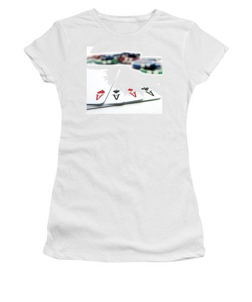 Four Aces And Gambling Women's T-Shirt