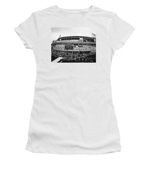 High Angle View Of Tourists Women's T-Shirt (Athletic Fit)