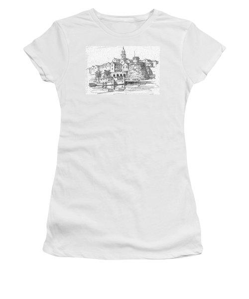 Korcula Croatia Women's T-Shirt (Junior Cut) by Joseph Hendrix