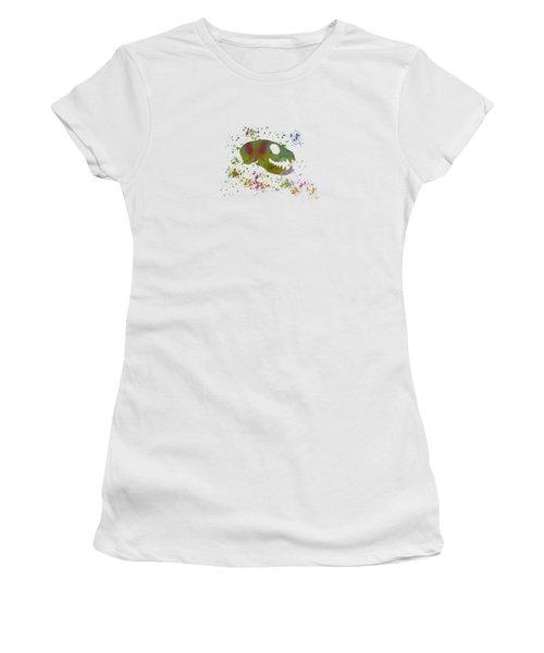 Meerkat Skull Women's T-Shirt (Athletic Fit)