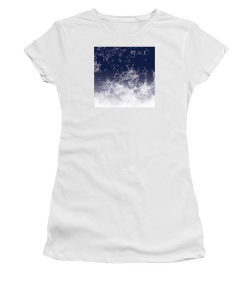 Women's T-Shirt (Junior Cut) featuring the digital art Peace by Trilby Cole