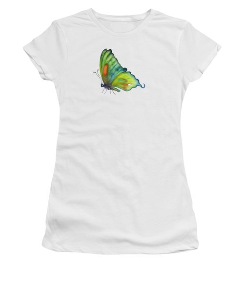 3 Perched Orange Spot Butterfly Women's T-Shirt