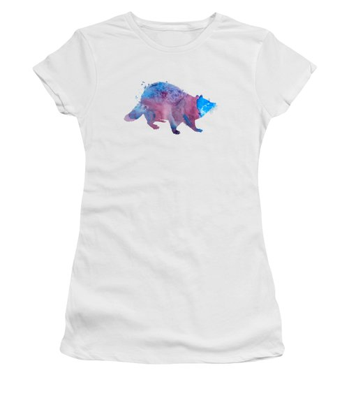 Raccoon Women's T-Shirt (Athletic Fit)