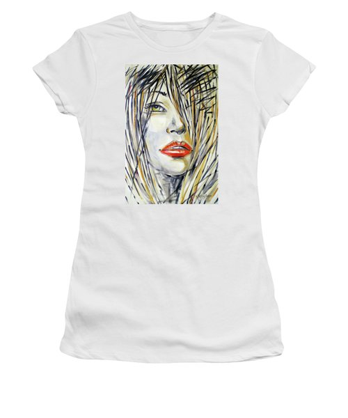 Red Lipstick 081208 Women's T-Shirt (Athletic Fit)