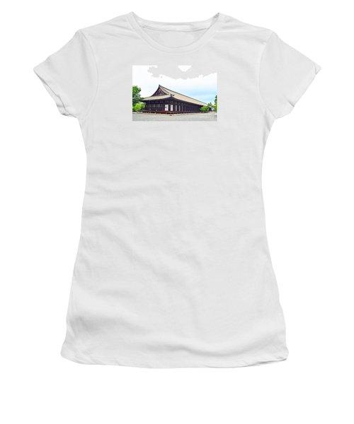 Women's T-Shirt (Junior Cut) featuring the digital art 33 Sanjusangendo 2 by Eva Kaufman