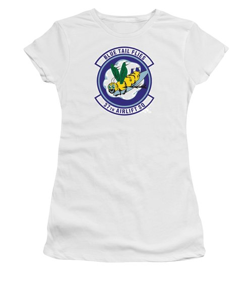 37th Tactical Airlift Squadron Women's T-Shirt (Junior Cut) by David Bearden