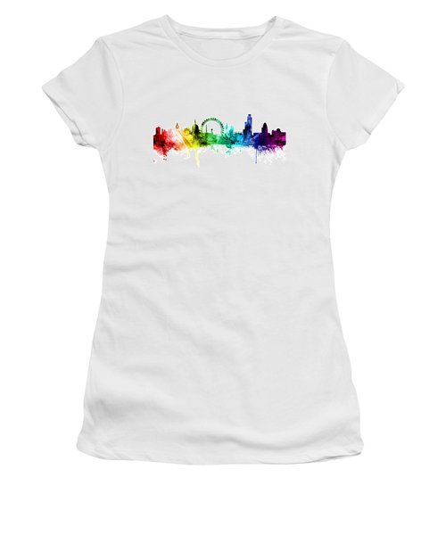 London England Skyline Women's T-Shirt (Junior Cut) by Michael Tompsett