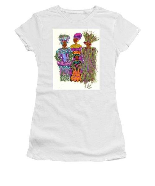 Women's T-Shirt (Junior Cut) featuring the mixed media 3rd Generation - We Women Folk by Angela L Walker